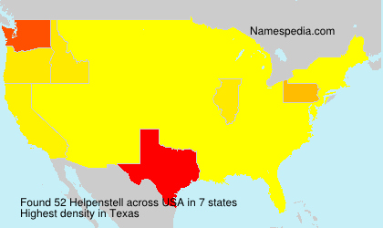 Surname Helpenstell in USA
