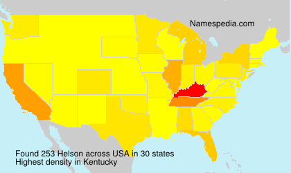 Surname Helson in USA