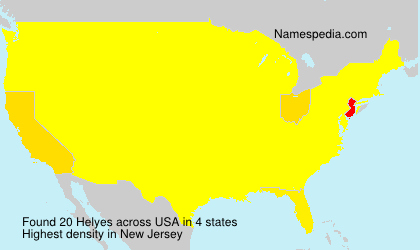 Surname Helyes in USA