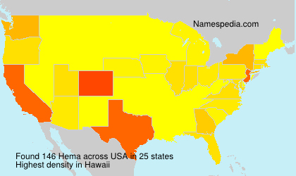 Surname Hema in USA