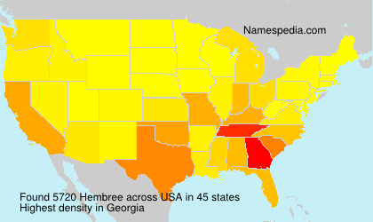 Surname Hembree in USA