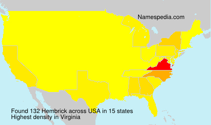 Surname Hembrick in USA