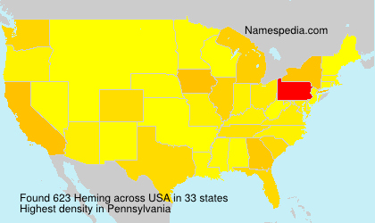 Surname Heming in USA