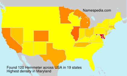Surname Hemmeter in USA