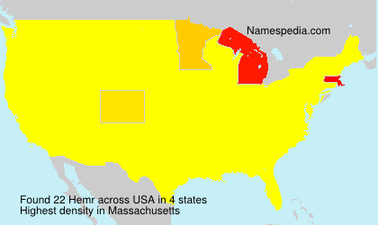 Surname Hemr in USA