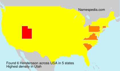 Surname Hendersson in USA