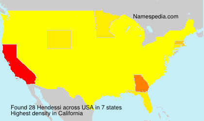 Surname Hendessi in USA