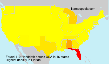 Surname Hendrieth in USA