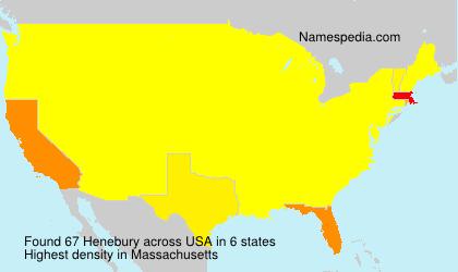 Familiennamen Henebury - USA