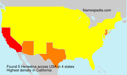 Surname Henedina in USA