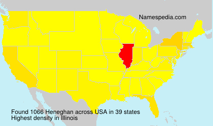 Surname Heneghan in USA