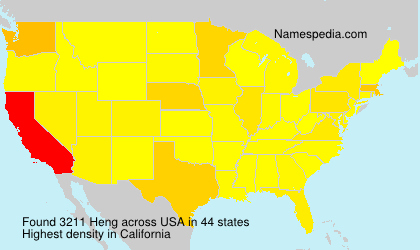 Surname Heng in USA
