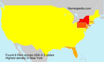 Surname Heni in USA