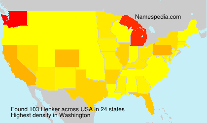 Surname Henker in USA