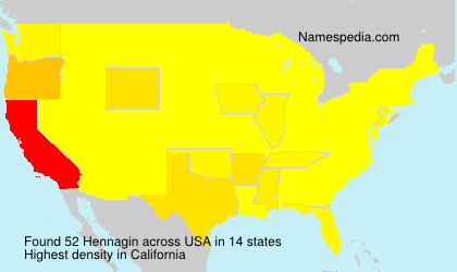 Surname Hennagin in USA