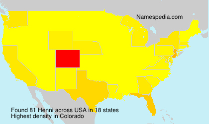 Surname Henni in USA