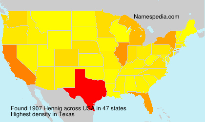 Surname Hennig in USA