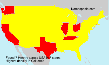 Surname Hennry in USA