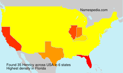 Surname Henricy in USA