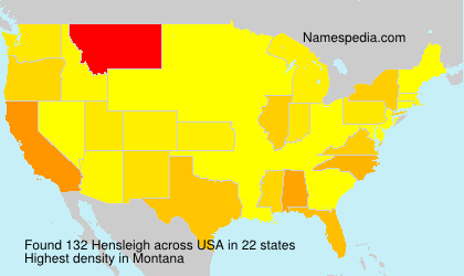 Surname Hensleigh in USA