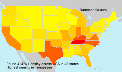 Surname Hensley in USA