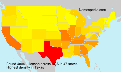 Surname Henson in USA