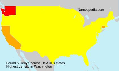 Surname Henya in USA