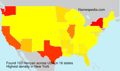 Surname Henyan in USA