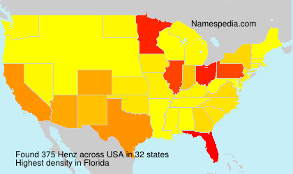 Surname Henz in USA