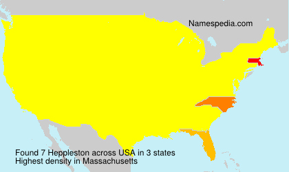 Surname Heppleston in USA