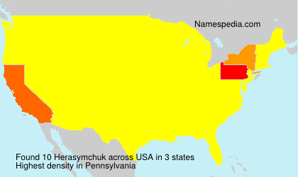 Surname Herasymchuk in USA