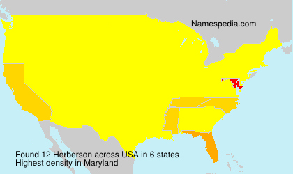 Surname Herberson in USA