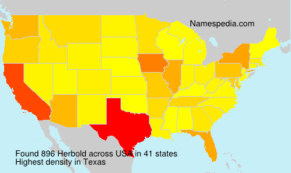 Surname Herbold in USA