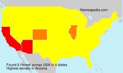 Surname Heredi in USA