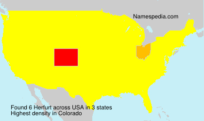 Surname Herfurt in USA