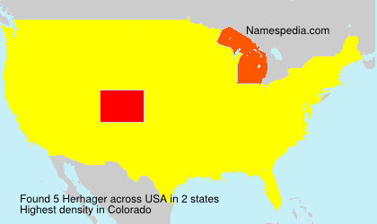 Surname Herhager in USA