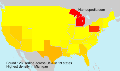 Surname Herline in USA