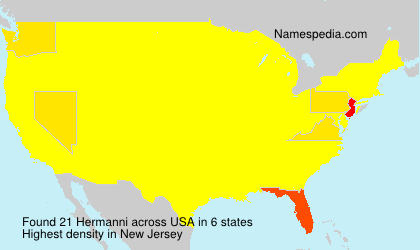 Surname Hermanni in USA