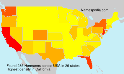 Surname Hermanns in USA