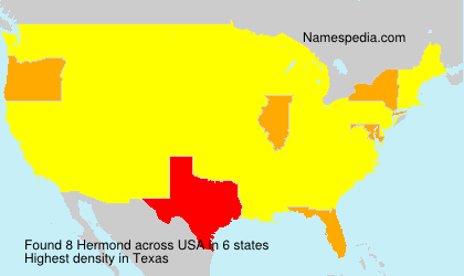 Surname Hermond in USA