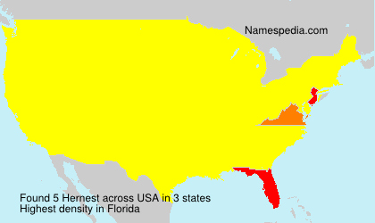 Surname Hernest in USA
