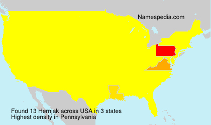 Surname Hernjak in USA
