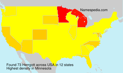 Surname Herrgott in USA