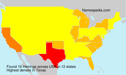 Surname Herrings in USA