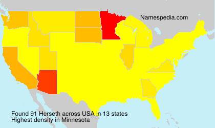 Surname Herseth in USA