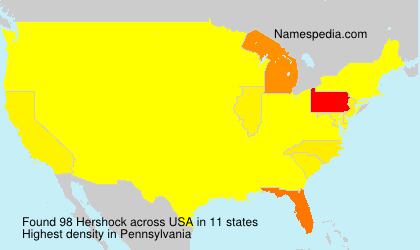 Surname Hershock in USA