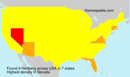 Surname Hertberg in USA
