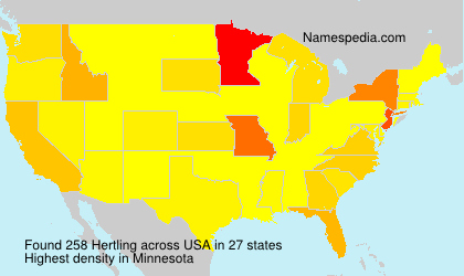Surname Hertling in USA