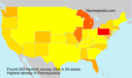 Surname Hertrich in USA