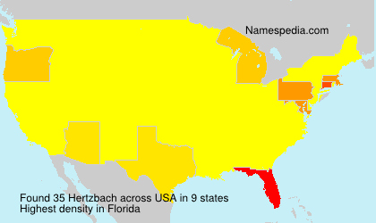 Surname Hertzbach in USA